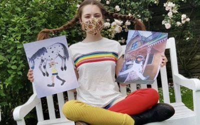 Kunstprojekt zum 75. Jubiläum von Pippi Langstrumpf in Zeiten von Corona