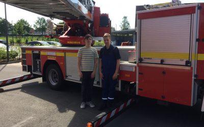 Besuch bei der Feuerwehr im Rahmen der Berufswahlorientierung