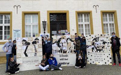 Kunstprojekt der Gesamtschule zum Jubiläum von Pippi Langstrumpf
